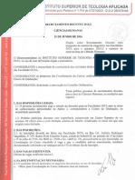 Edital Recrutamento Docente Ch 2016.2