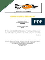 Diagnostico Empresarial Servicentro Sandiego