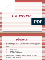 L'Adverbe Fiche