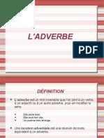 L'Adverbe Fiche