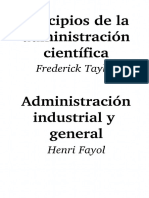 Taylor, Frederick y Fayol, Henri-Principios de La Administracion Cientifica y Administracion General e Industrial