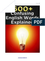 600 Confusing English Words Explained