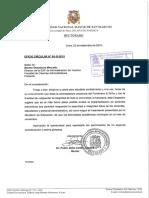OFICIO CIRCULAR Nº05-R-2015 Termino de Clases Noviembre