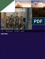 Nabi Sulaiman New Dawat and Rituals