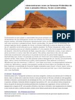 Cientistas Finalmente Demonstraram Como as Famosas Pirâmides Do Egito