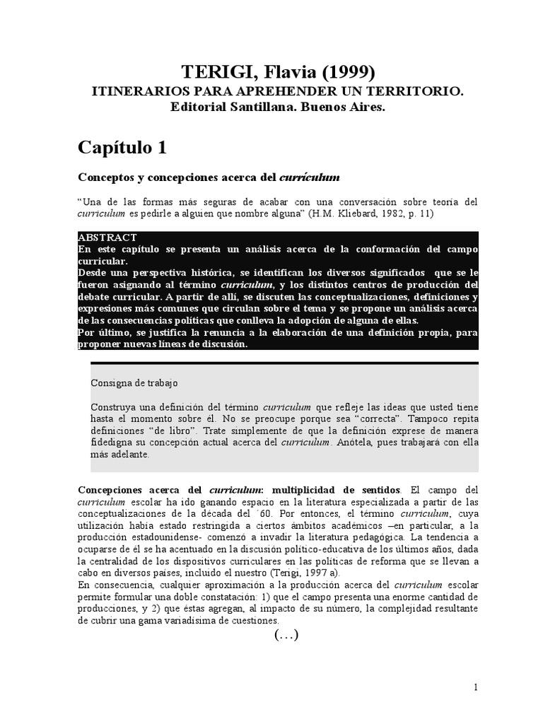 Terigi- Curriculum-Cap. I,II SELECCIÓN