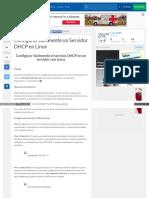 Configurar Dhcp Linux