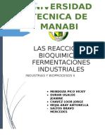 Agentes en Los Procesos Bioquimicos