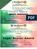 Academic Excellence Award G4