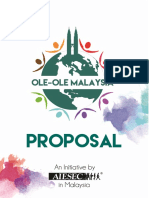 Ole-Ole Malaysia Proposal in-Kind Sponsorship