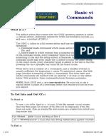 Vi Commands Guide