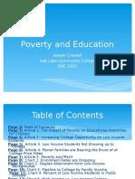 education and poverty eportfolio