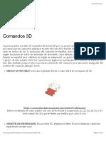 Comandos 3D | AutoCAD-2×3