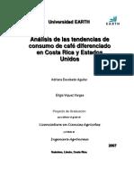 Tendencias de consumo de café diferenciado en Costa Rica y Estados Unidos