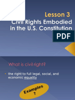 Civil Rights Embodied in the U.S. Constitution