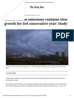 Global Carbon Emissions Continue Slow Growth_ Study