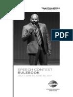 TMI - Speech Contest Rulebook 2016