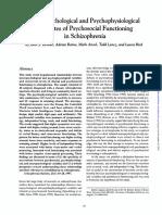Neuropsychological and Psychological Correlates Psychosocial