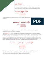 mathematics of circular motion