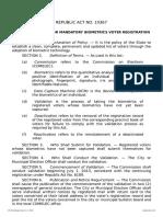 RA 10367 an Act Providing for Mandatory Biometrics