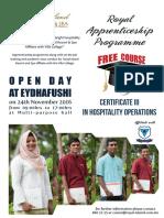 Apprentenship Programe Poster
