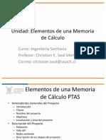 memoria calculo ptas