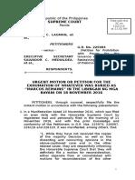 SC Marcos Burial Omnibus Motion Exhumation Contempt 20Nov2016