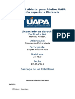 Tarea 1 Unidad I Orientacion Universitario (UAPA) 19-05-2016