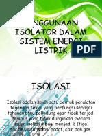 Penggunaan Isolator Dalam Sistem Energi Listrik