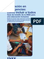 INEE Pocket Guide Inclusive Education in Spanish