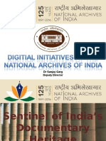Digital Initiatives at the National Archives of India