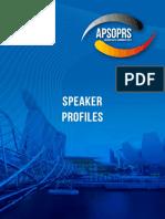 Speakers Profile