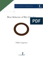 5.Wear Behavior of Wet Clutches