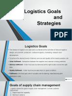 Logistics Goals and Strategies