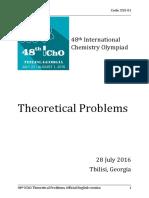 2016 Chimie Internationala Proba Teoretica Subiectebareme