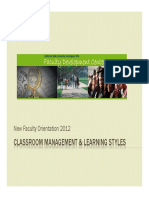 Classroom Management and Learning Styles