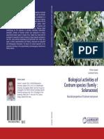 Biological activities of Cestrum species (family