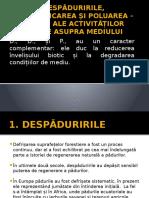 Despaduririle, Deșertificarea Și Poluarea - Efecte Ale Activităților Umane Asupra Mediului