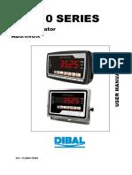 Manual cantar electronic Dibal VD-310
