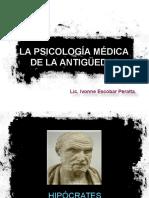 La Psicología Médica de La Antigüedad