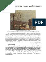 Pierre Michel, « Octave Mirbeau n'ira pas au Musée d'Orsay »,