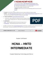 HCNA-HNTD V2.1 Intermediate Training Materials