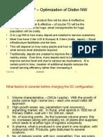 Distribution Channel - Log-Dist Optimization network