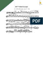 2017 Audisi 2017 Violin Excerpts