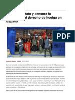Sinpermiso-la Oit Constata y Censura La Represion Del Derecho de Huelga en Espana-2016!11!20