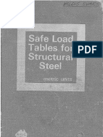 AISC Safe Load Tables for Structural Steel