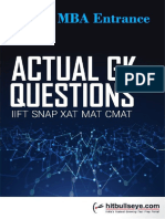 Actual GK Question Iift,Snap,Xat,Mat,Cmat Final