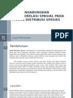 Autokorelasi Spasial dalam Model Distribusi Spesies