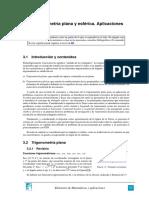 Trigonometría Plana y Esférica. Aplicaciones (Tema 3)