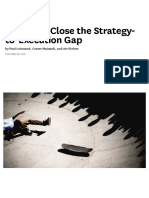 5 Ways to Close the Strategy-To-Execution Gap